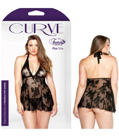 Curve P121 Stretch Lace Set Blk 1x2x