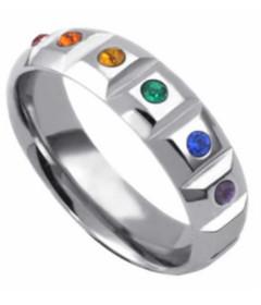 Steel Gemstone C-Ring 15x45mm