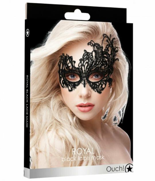 Royal Black Lace Mask