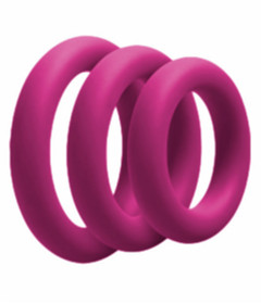 RIN027PNK 3 Pack Silicone Cock Ring Pink