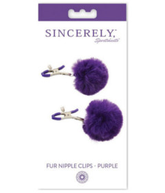 Sincerely Fur Nipple Clips Purple