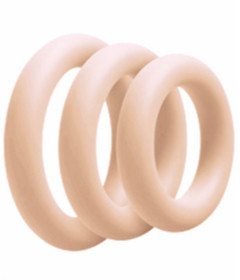 RIN027NUDE 3 Pack Silicone Cock Ring Nude