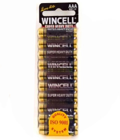 Wincell SuperSuper Heavy Duty AAA Batteries - 10 Pack