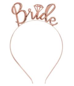HEN001RSE Bride Tiara Rose Gold