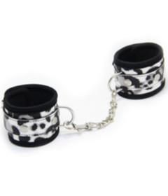 B-HAN13WHT Animal Print Cuffs White