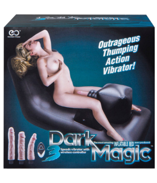 Dark Magic Inflatable Bed with Vibrator