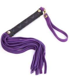 B-WHI05PUR Suede Flogger Toggle Handle Purple