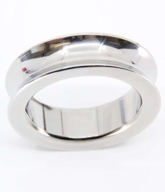 RIN036-45SIL SS 45mm Cockring Silver