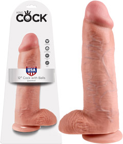 King Cock - 12in With Balls Flesh