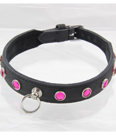 COL035PNK Dimante Collar Pink