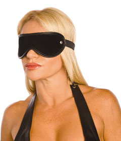 BLI027 - Black Suede Blindfold