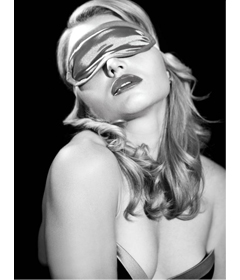 S&M Satin Grey Blindfold