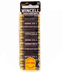 Wincell SuperSuper Heavy Duty AA Batteries - 10 Pack