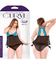Curve Lace Babydoll 3x4x