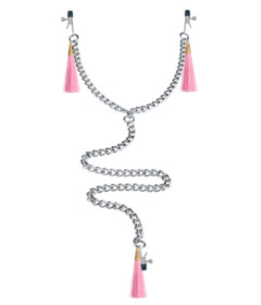 Lovetoy Nipple Clit Clamp and Chain Pink