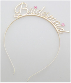 HEN002GLD Bridesmaid Tiara Gold