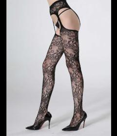 LIN4816 Thigh Hi with Garter Stockings