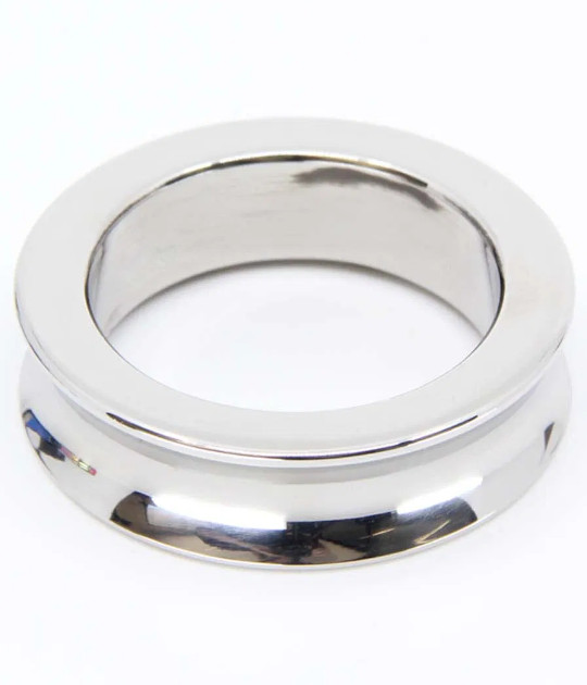 RIN036-50SIL SS 50mm Cockring Silver