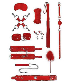 OUCH Intermediate Bondage Kit Red