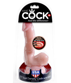 King Cock Dual Density 6.5in Cock & Ball