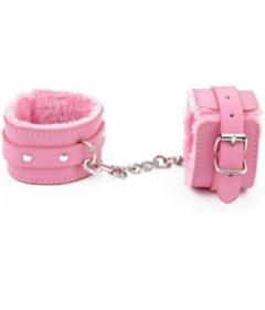 B-HAN02PNK Fur Lined Cuffs Pink