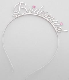 HEN002SIL Bridesmaid Tiara Silver