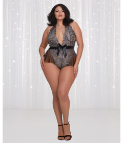 DG11788XQMB Scalloped Stretch Lace Teddy