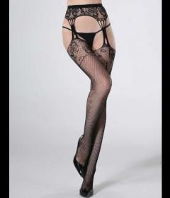 LIN4535 Thigh Hi with Garter Stockings