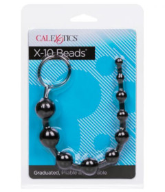 X-10 Anal Beads  Black