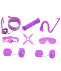 KIT001PUR 9 Piece Bondage Kit Purple