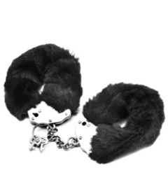 Lovetoy Fluffy Hand Cuffs Black