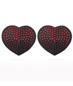 Reusable Red Diamond Heart Pasties